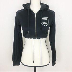Adidas Cropped Zip Up Jacket